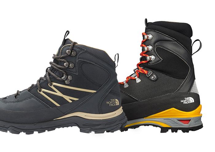 ミッドカットとハイカットの登山靴 横からのイメージ