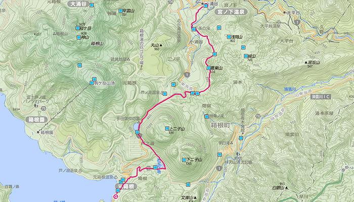 鷹巣山(たかのすやま)のコース