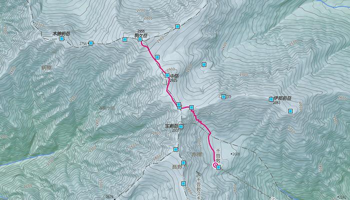 木曽駒ヶ岳のコース