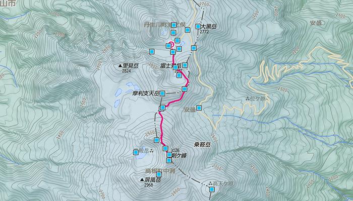乗鞍岳(のりくらだけ)のコース
