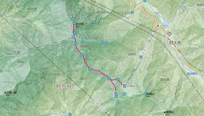 谷川岳(たにがわだけ)のコース