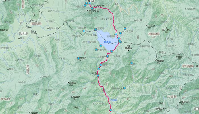 燧ケ岳のコース