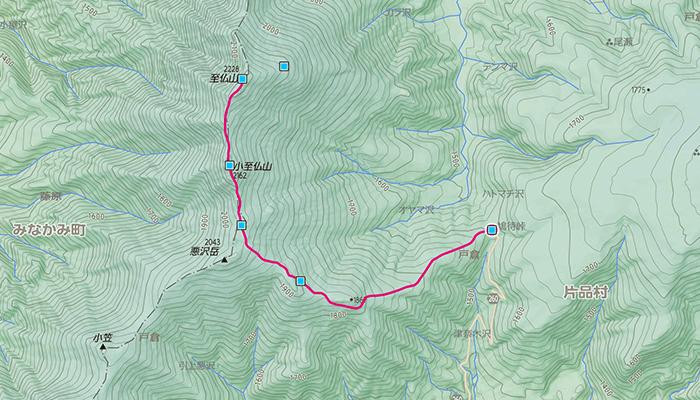 至仏山のコース
