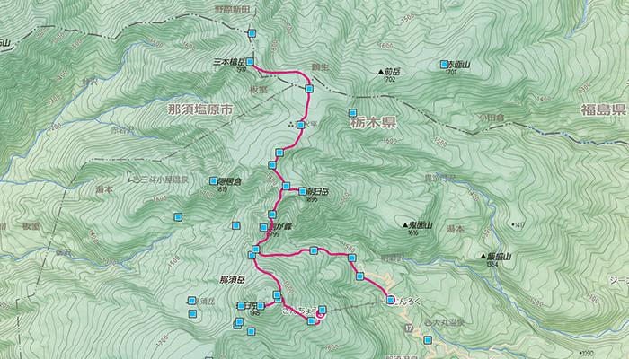 那須岳のコース