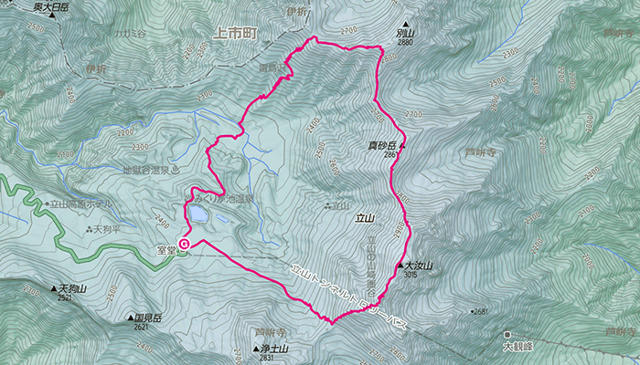 立山・雄山(たてやま・おやま)のコース