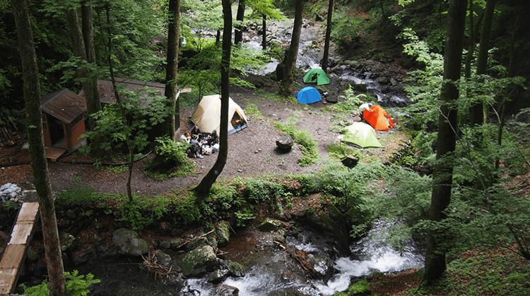 三条の湯テント場