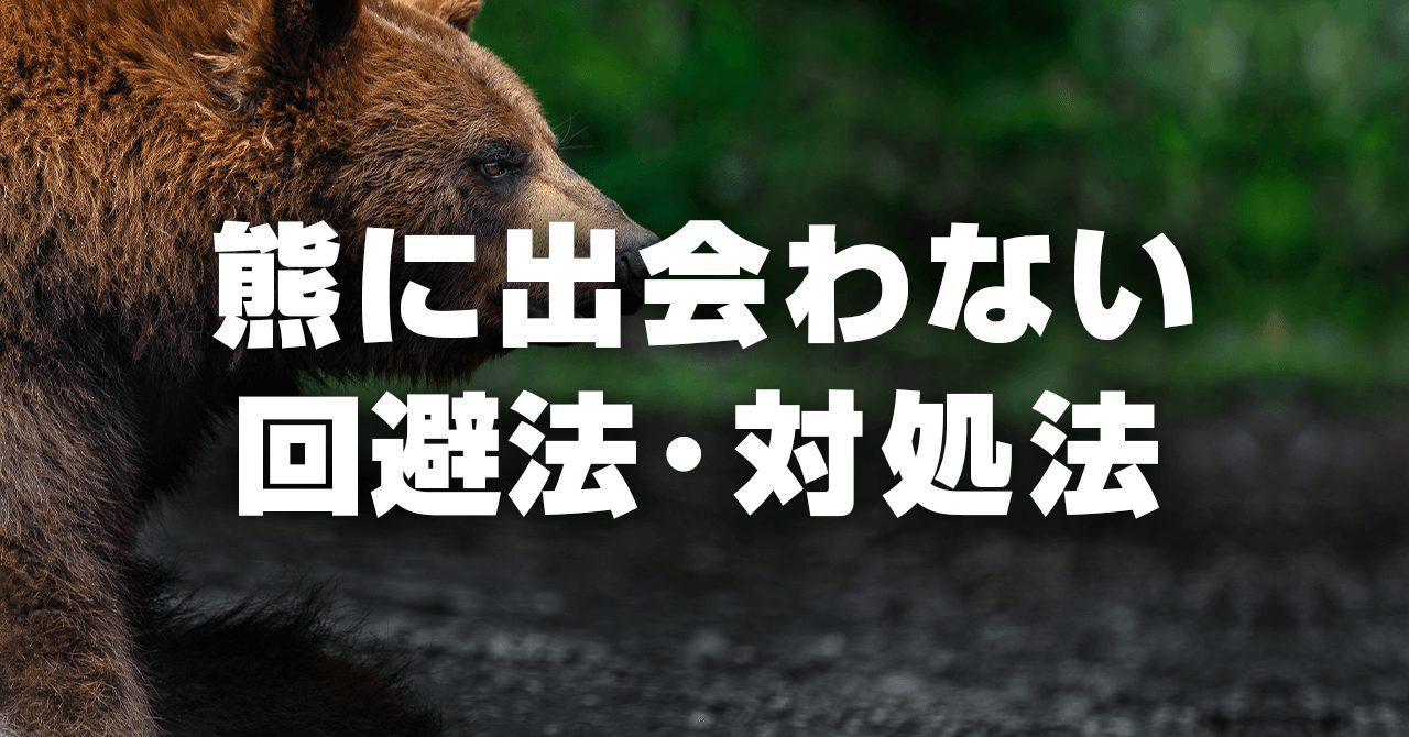 登山中に熊に出会わないための回避法・対処法