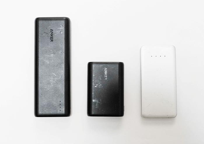 用途に合わせてバッテリー容量を選ぶ 複数のモバイルバッテリー